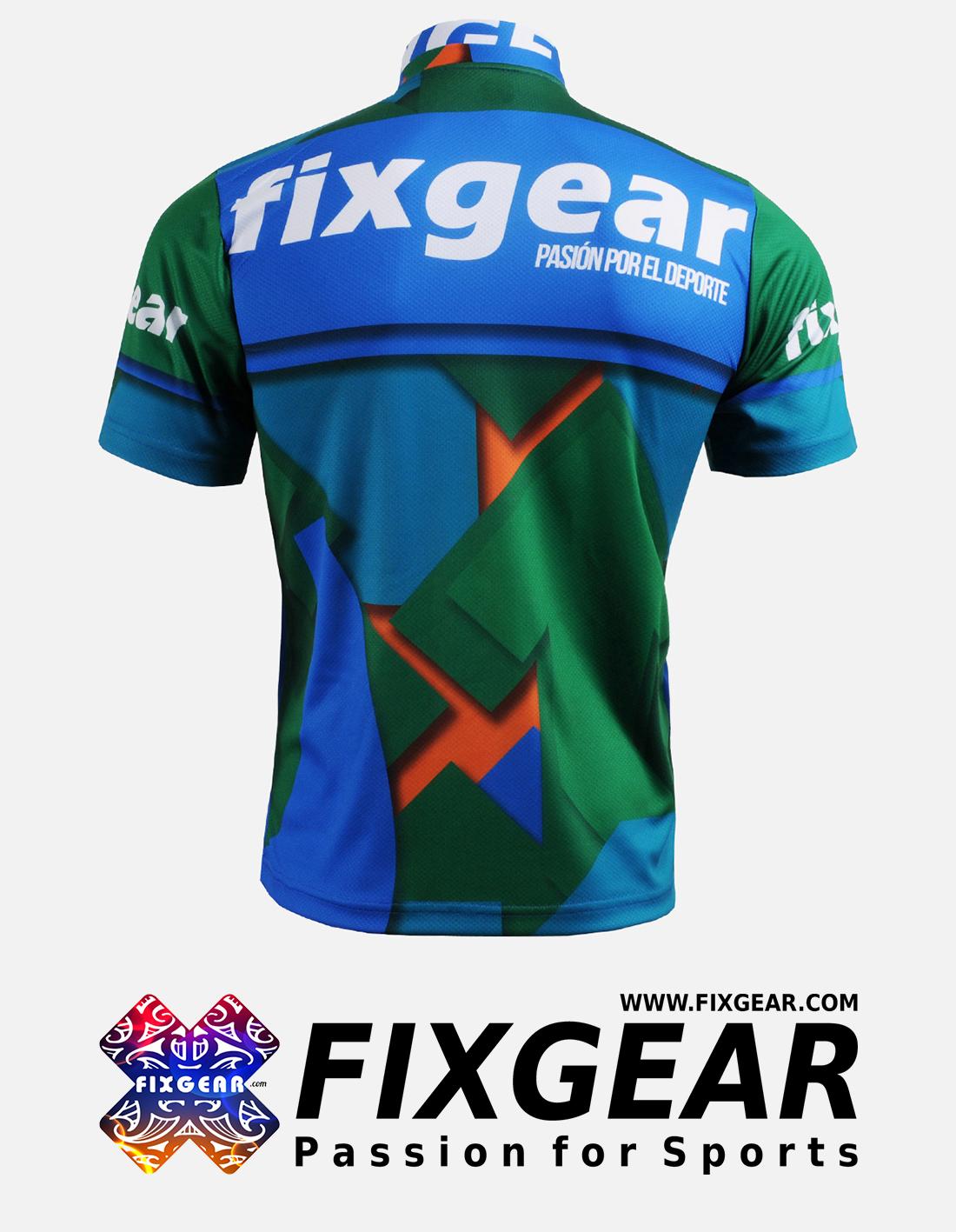 FIXGEAR BM-51B2 Casual Men's short sleeve jersey 1/4 zip-up T-Shirt