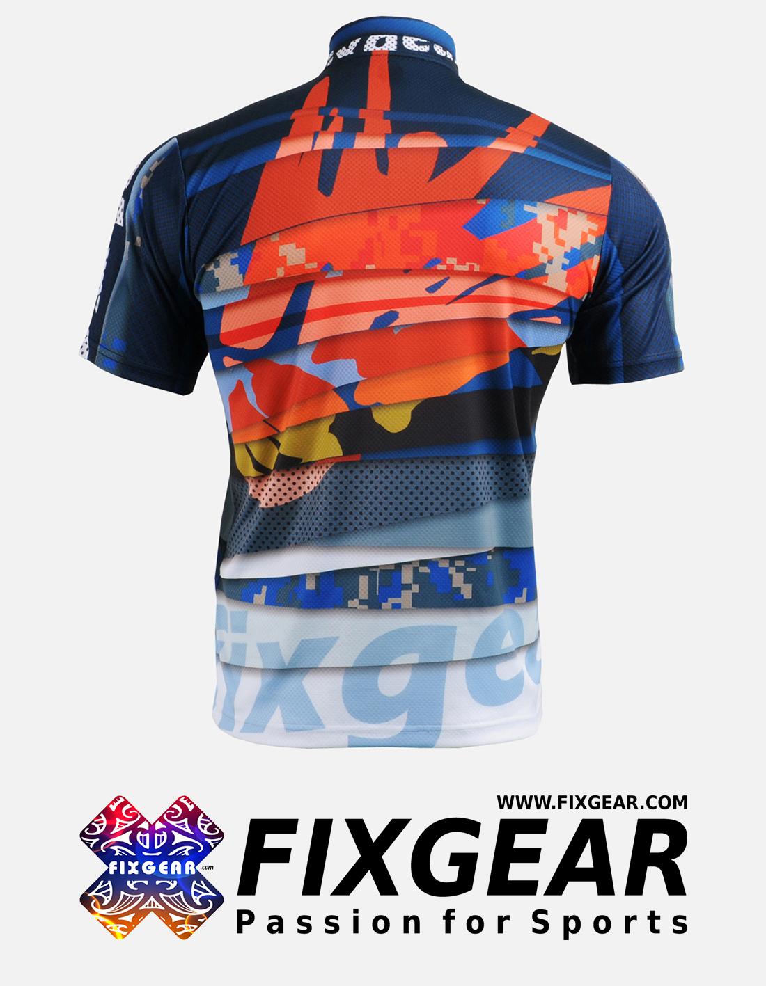FIXGEAR BM-5202 Casual Men's short sleeve jersey 1/4 zip-up T-Shirt