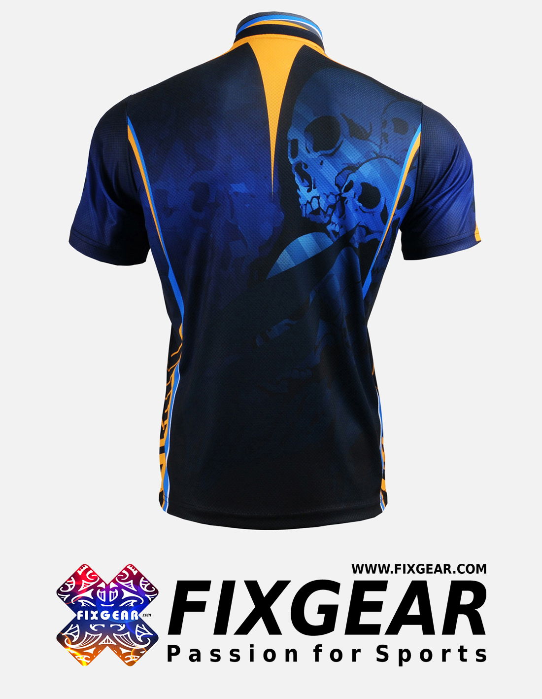 FIXGEAR BM-5302 Casual Men's short sleeve jersey 1/4 zip-up T-Shirt