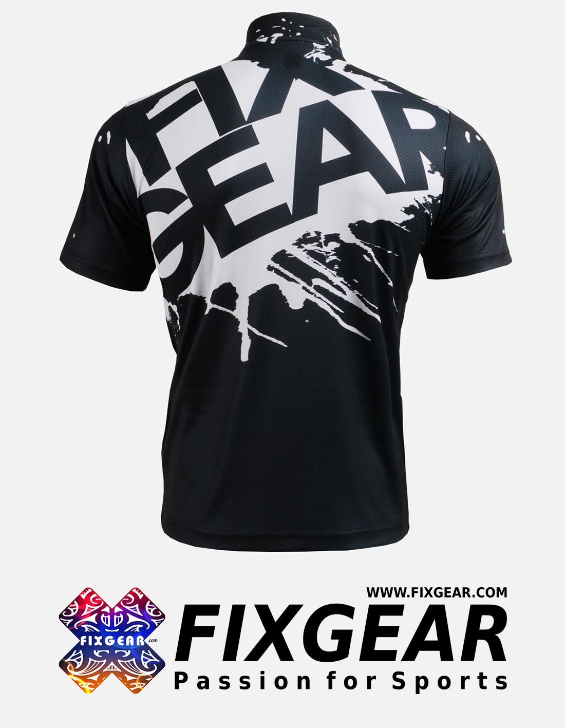 FIXGEAR BM-5402 Casual Men's short sleeve jersey 1/4 zip-up T-Shirt