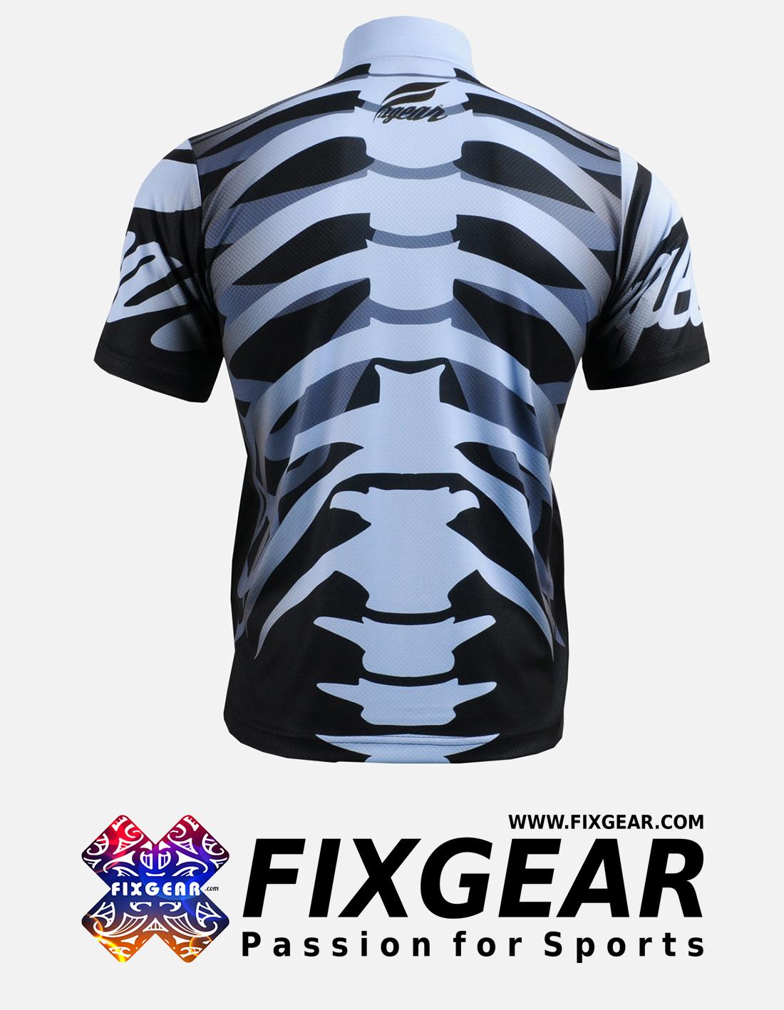 FIXGEAR BM-5502 Casual Men's short sleeve jersey 1/4 zip-up T-Shirt