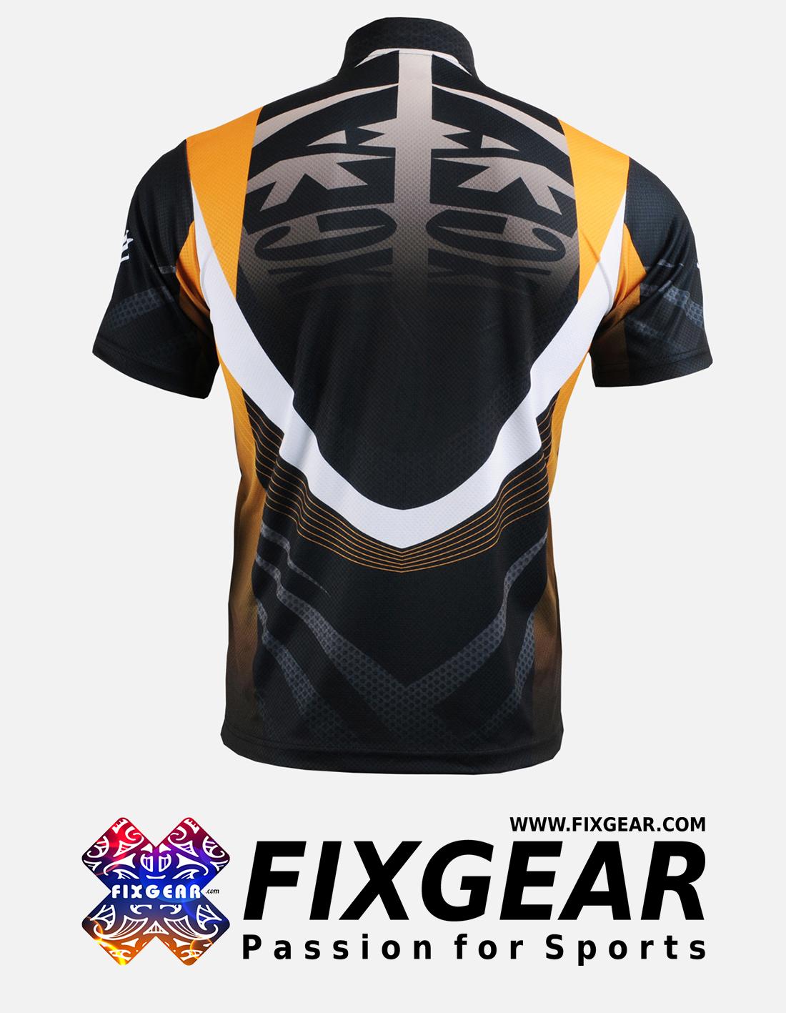 FIXGEAR BM-5802 Casual Men's short sleeve jersey 1/4 zip-up T-Shirt