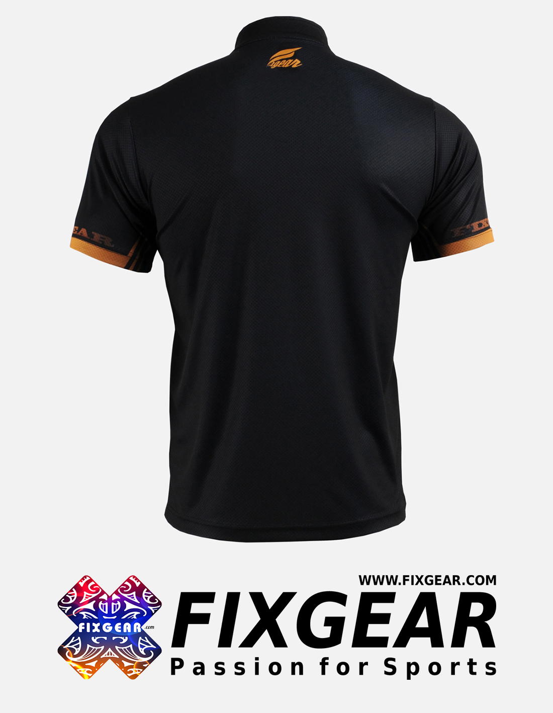 FIXGEAR BM-6002 Casual Men's short sleeve jersey 1/4 zip-up T-Shirt