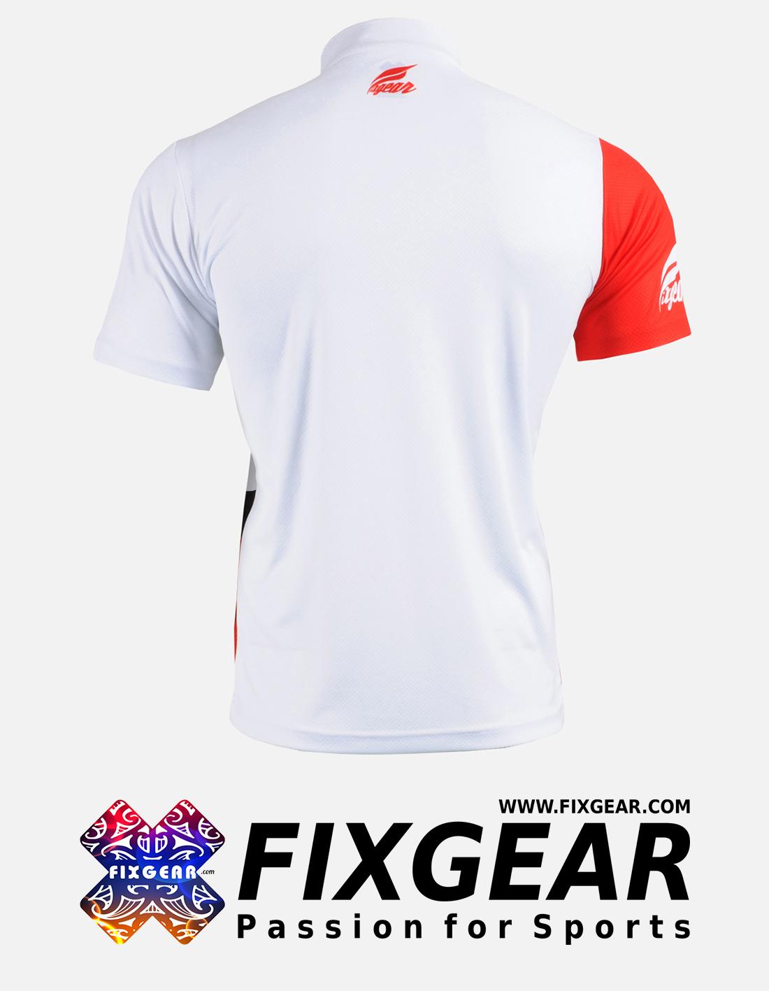 FIXGEAR BM-6202 Casual Men's short sleeve jersey 1/4 zip-up T-Shirt