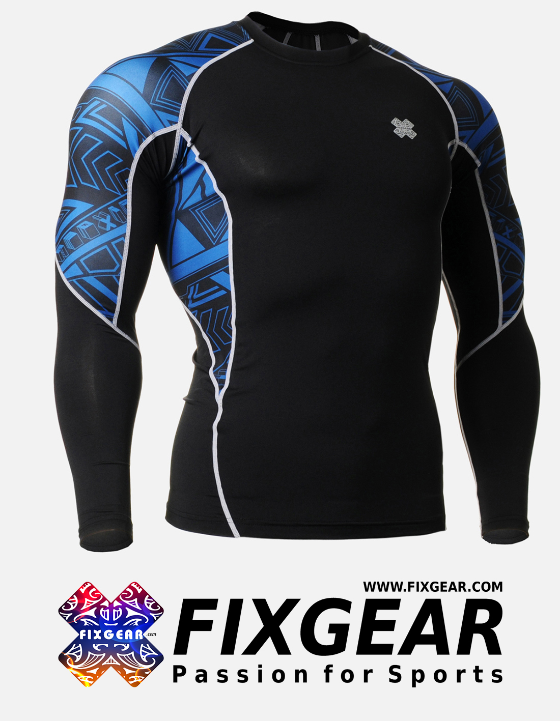 FIXGEAR C2L-B1 Compression Base Layer Shirt