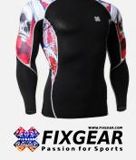 FIXGEAR C2L-B19R Compression Base Layer Shirt