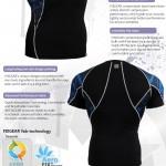 FIXGEAR C2S-B1 Compression Base Layer Shirt Short Sleeve  3