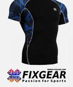 FIXGEAR C2S-B1 Compression Base Layer Shirt Short Sleeve