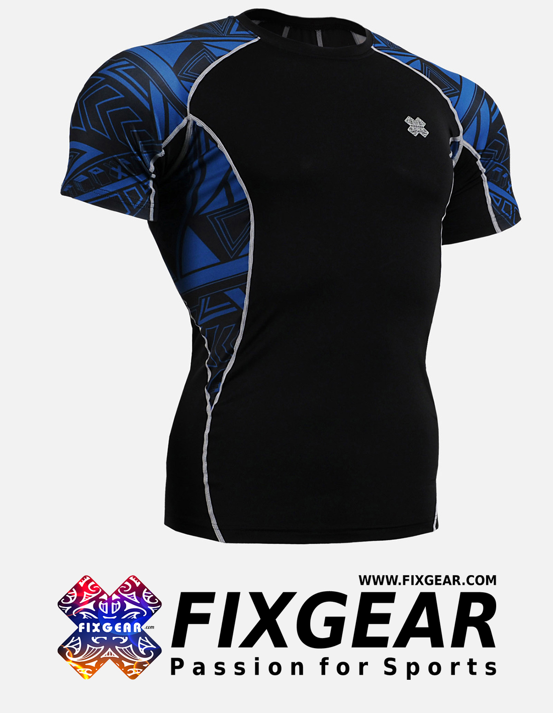 FIXGEAR C2S-B1 Compression Base Layer Shirt Short Sleeve