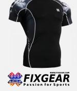 FIXGEAR C2S-B18 Compression Base Layer Shirt Short Sleeve