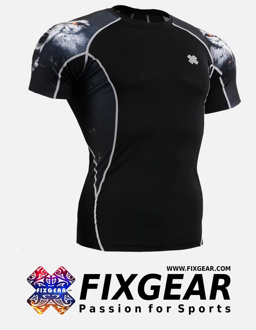 FIXGEAR C2S-B18 Compression Base Layer Shirt Short Sleeve  1