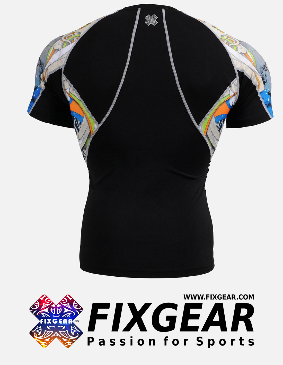FIXGEAR C2S-B19B Compression Base Layer Shirt Short Sleeve