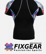 FIXGEAR C2S-B19R Compression Base Layer Shirt Short Sleeve  2