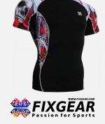 FIXGEAR C2S-B19R Compression Base Layer Shirt Short Sleeve