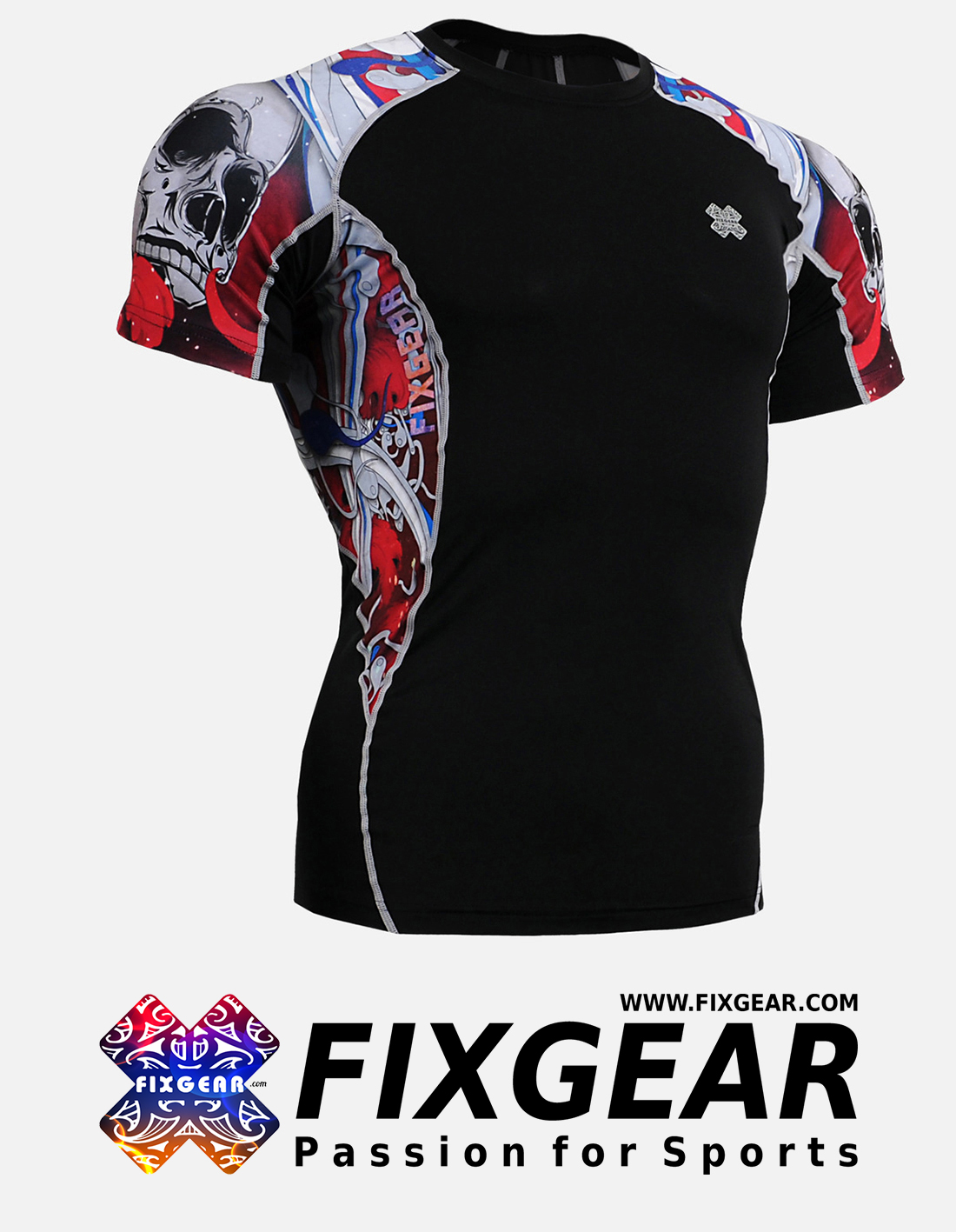 FIXGEAR C2S-B19R Compression Base Layer Shirt Short Sleeve
