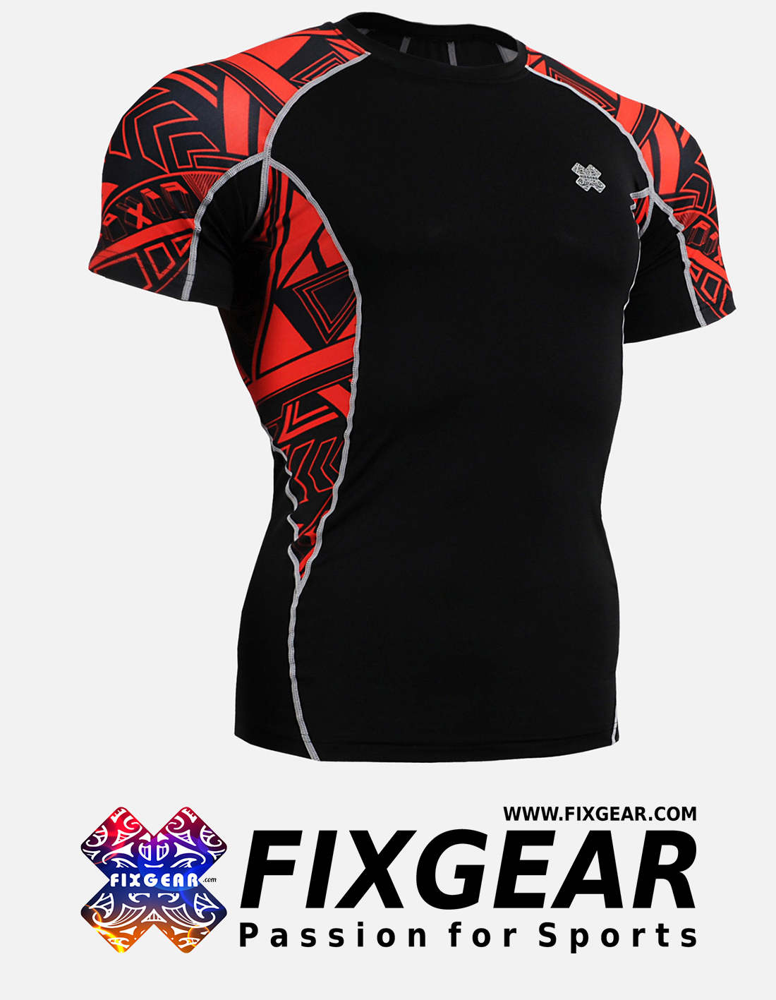 FIXGEAR C2S-B2 Compression Base Layer Shirt Short Sleeve