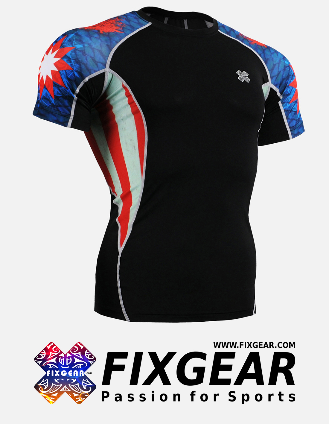 FIXGEAR C2S-B37 Compression Base Layer Shirt Short Sleeve