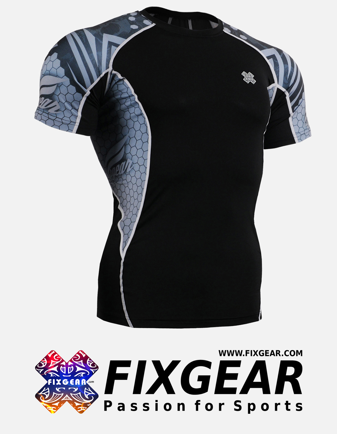 FIXGEAR C2S-B41 Compression Base Layer Shirt Short Sleeve
