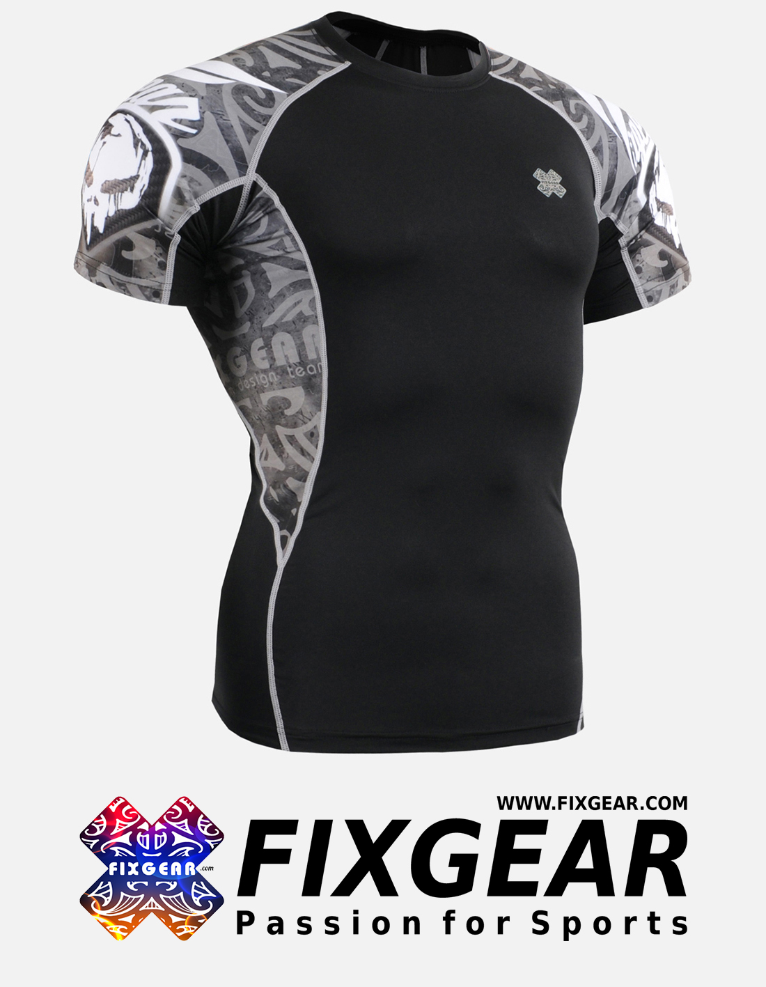 FIXGEAR C2S-B43 Compression Base Layer Shirt Short Sleeve