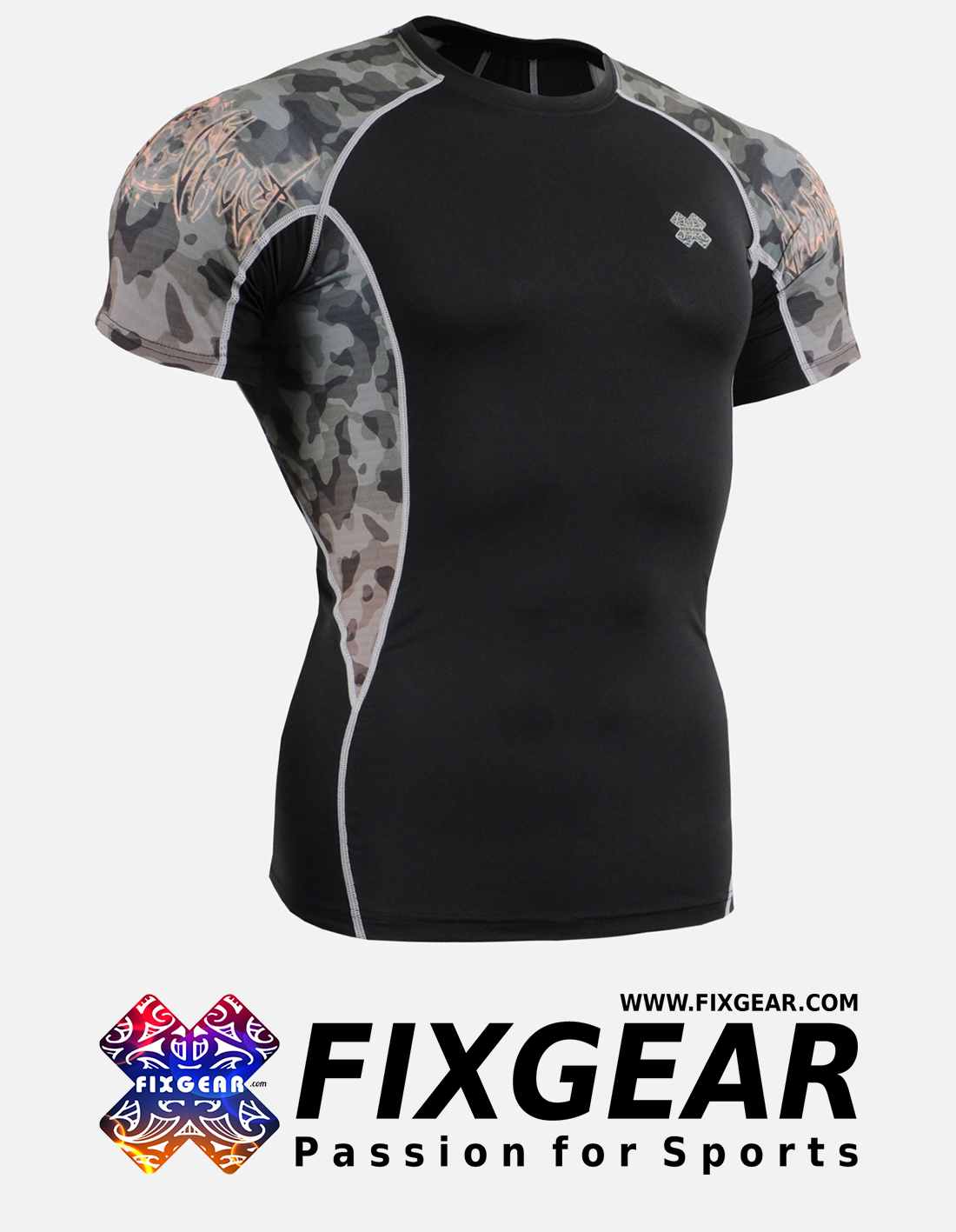 FIXGEAR C2S-B45 Compression Base Layer Shirt Short Sleeve