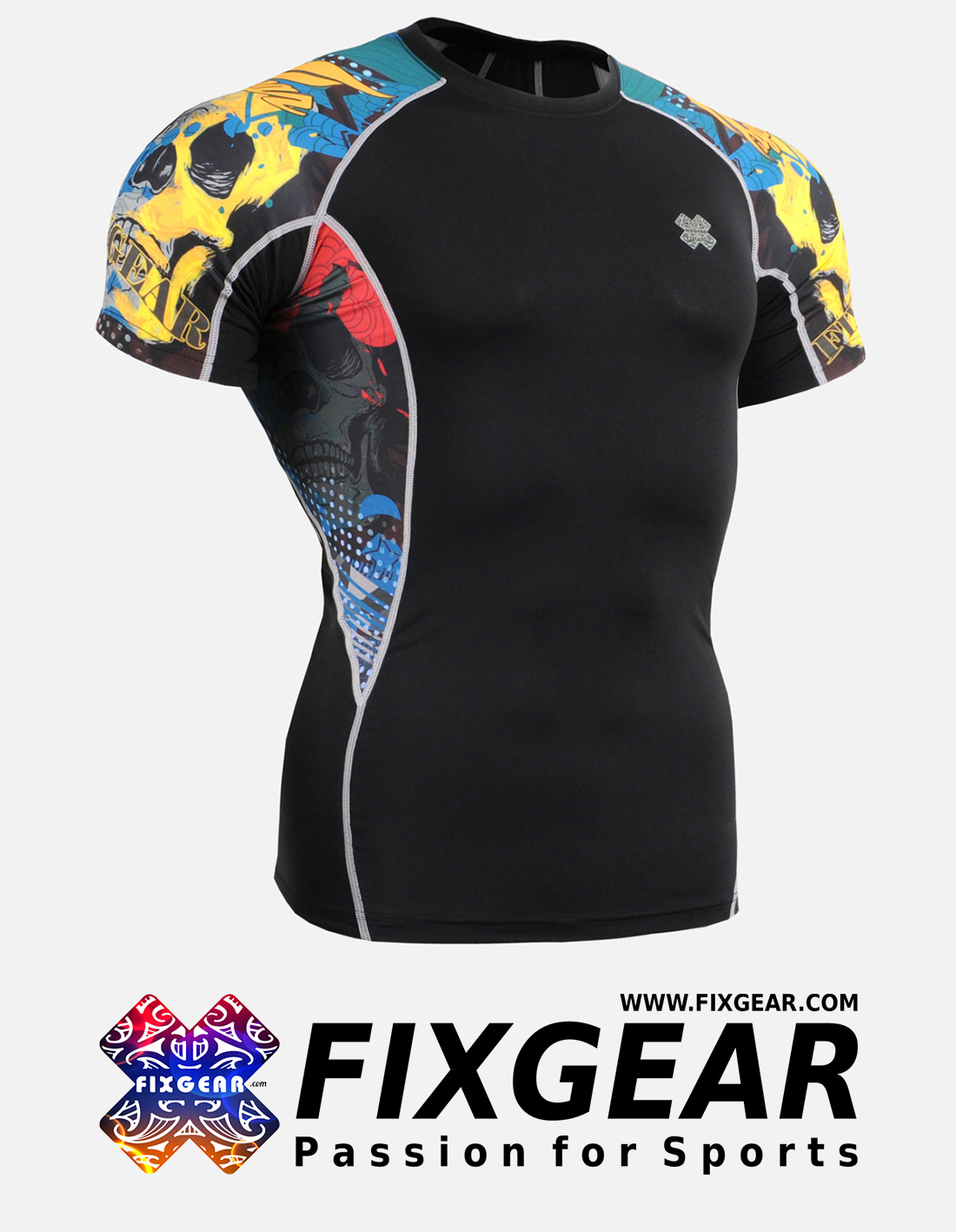 FIXGEAR C2S-B46 Compression Base Layer Shirt Short Sleeve