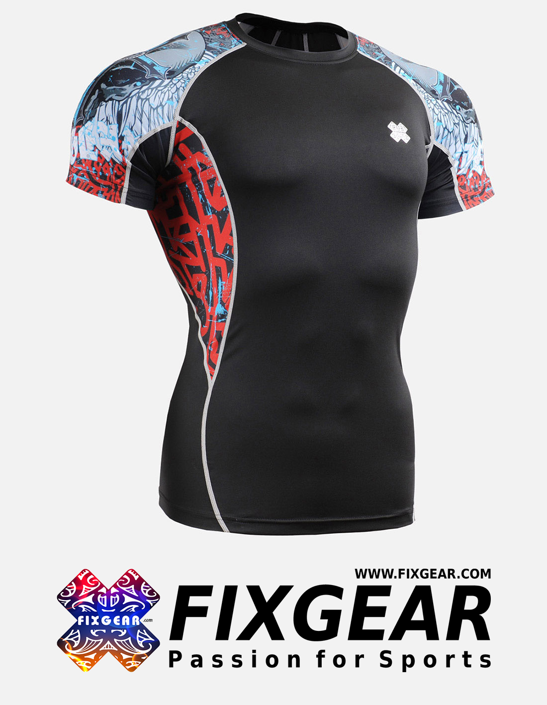 FIXGEAR C2S-B73 Compression Base Layer Shirt Short Sleeve