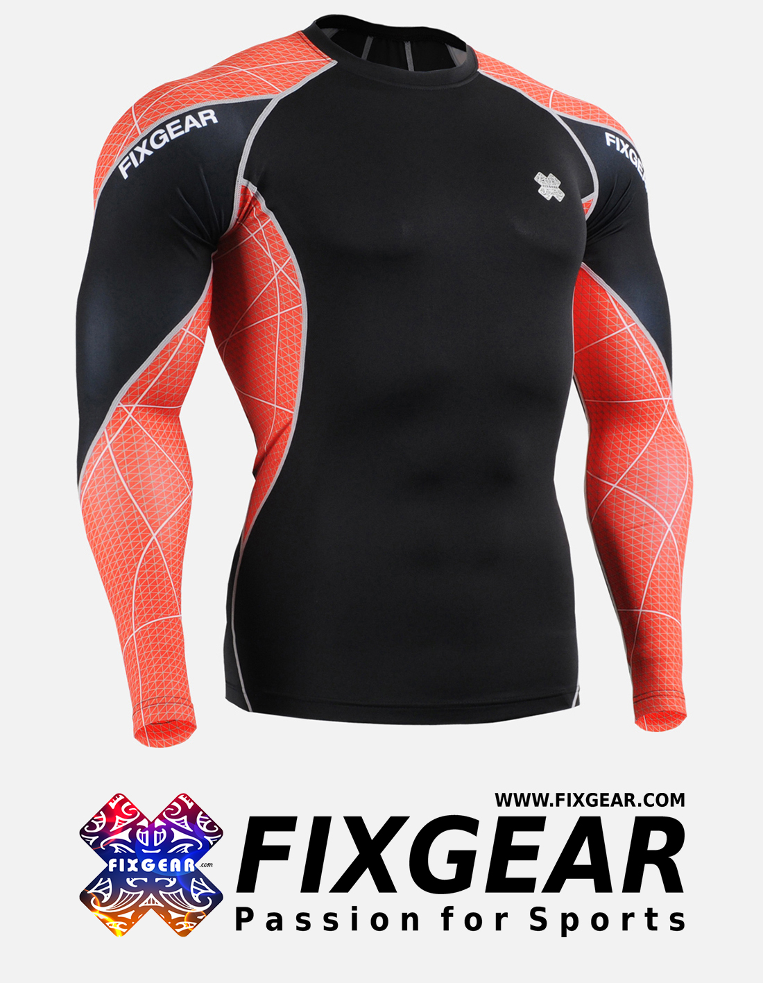 FIXGEAR C3L-B70R Compression Base Layer Shirt