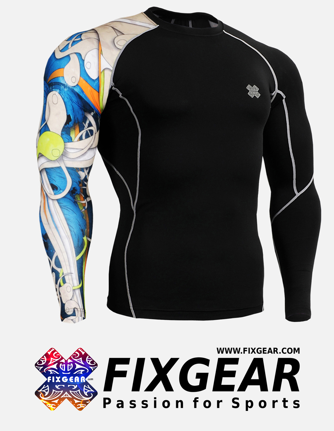 FIXGEAR CP-B19B Compression Base Layer Shirt