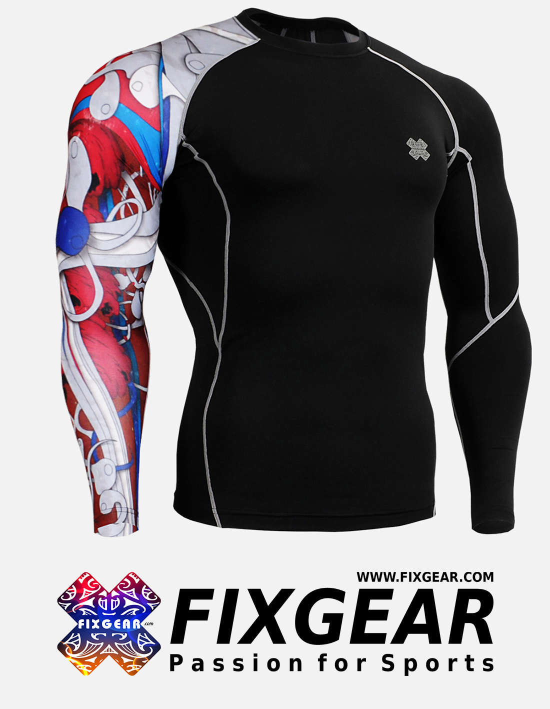 FIXGEAR CP-B19R Compression Base Layer Shirt