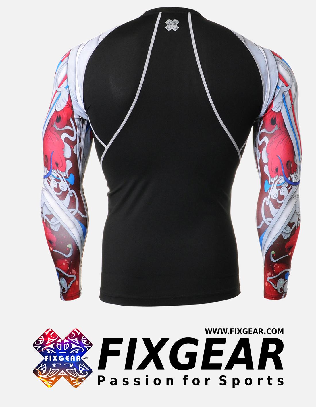 FIXGEAR CPD-B19R Compression Base Layer Shirt