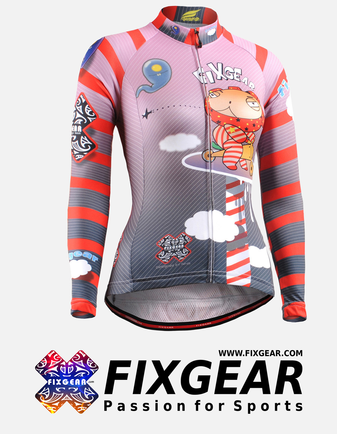FIXGEAR CS-W1601 Women's Long Sleeve Jersey