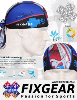 FIXGEAR D-19R Cycling Skull cap, Bandana