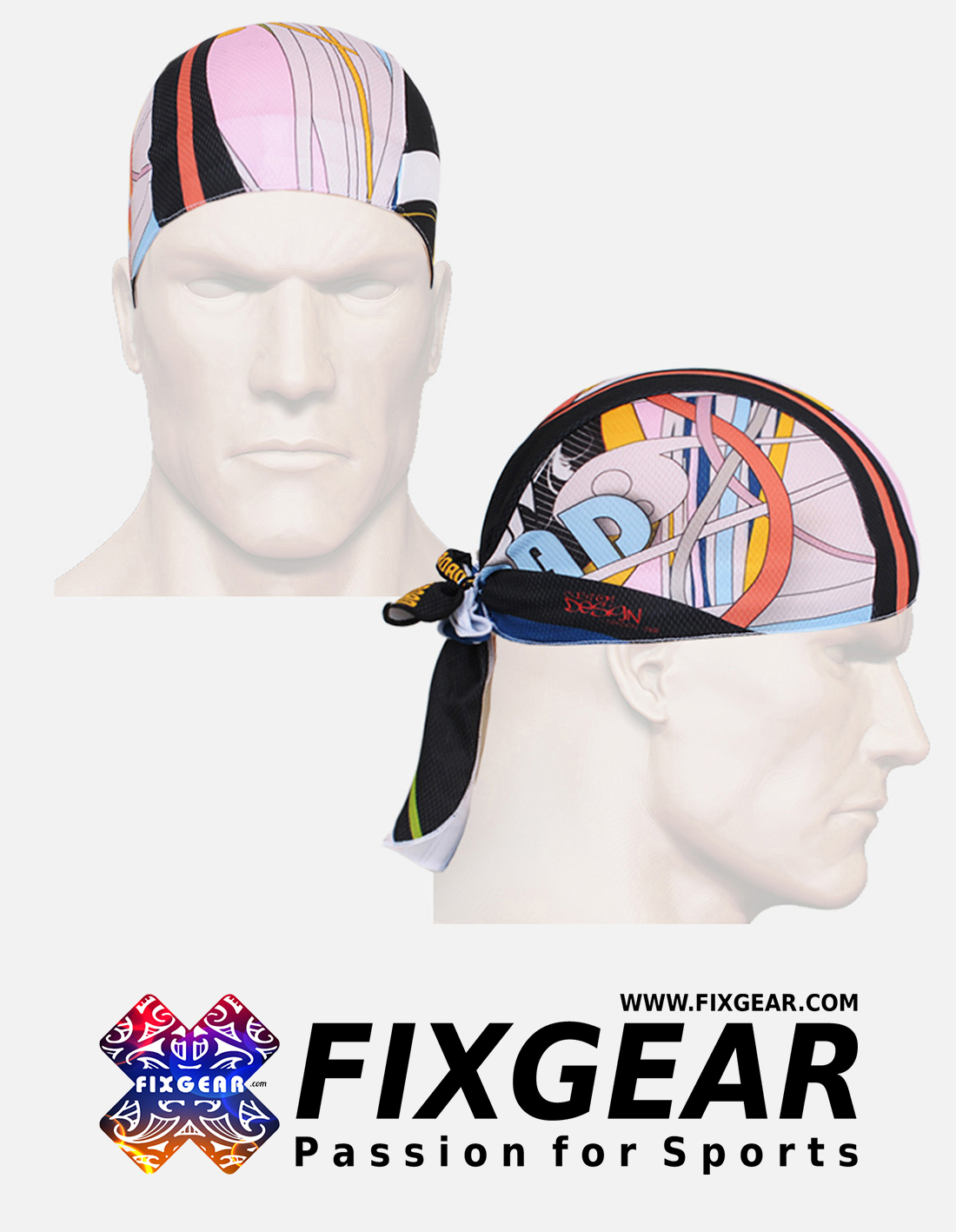 FIXGEAR D-3 Cycling Skull cap, Bandana
