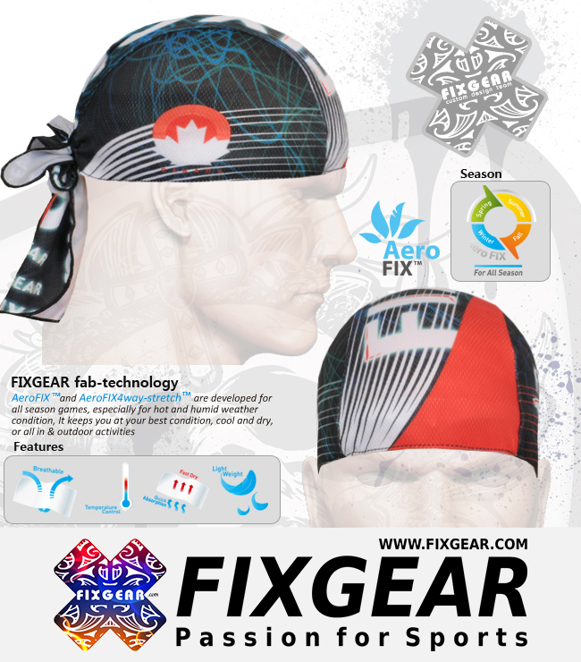 FIXGEAR D-35 Cycling Skull cap, Bandana