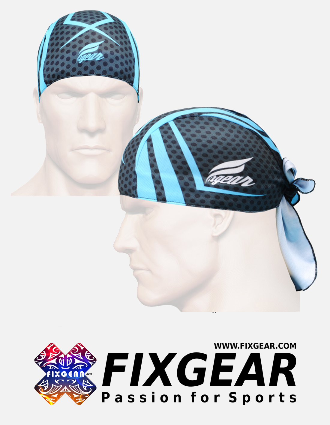 FIXGEAR D-56 Cycling Skull cap, Bandana
