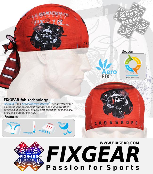 FIXGEAR D-8 Cycling Skull cap, Bandana