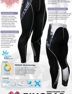 FIXGEAR P2L-B39 Compression Leggings Pants