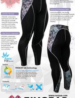FIXGEAR P2L-B45 Compression Leggings Pants