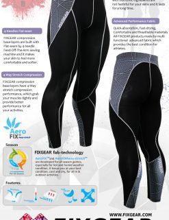 FIXGEAR P2L-B70 Compression Leggings Pants