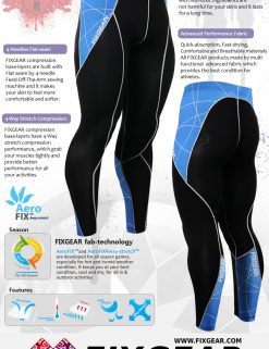 FIXGEAR P2L-B70B Compression Leggings Pants