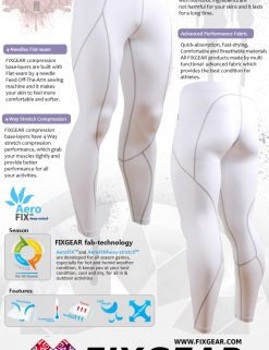 FIXGEAR P2L-WS Compression Leggings Under Training Tights Base layer Pants