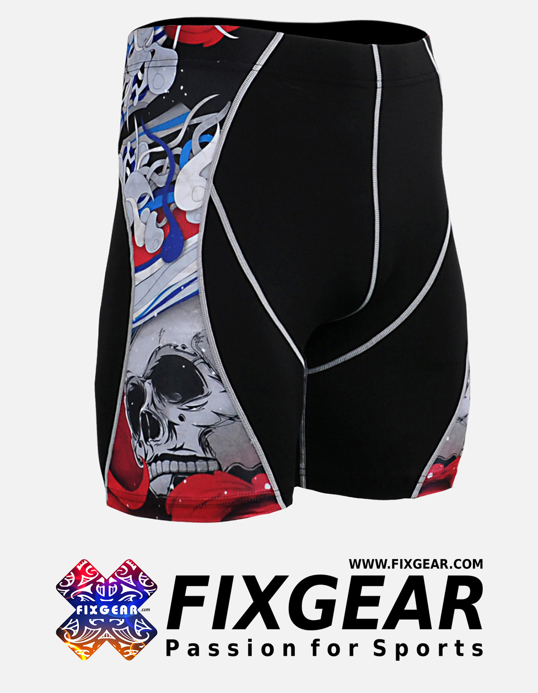 FIXGEAR P2S-B19R Compression Drawer Shorts