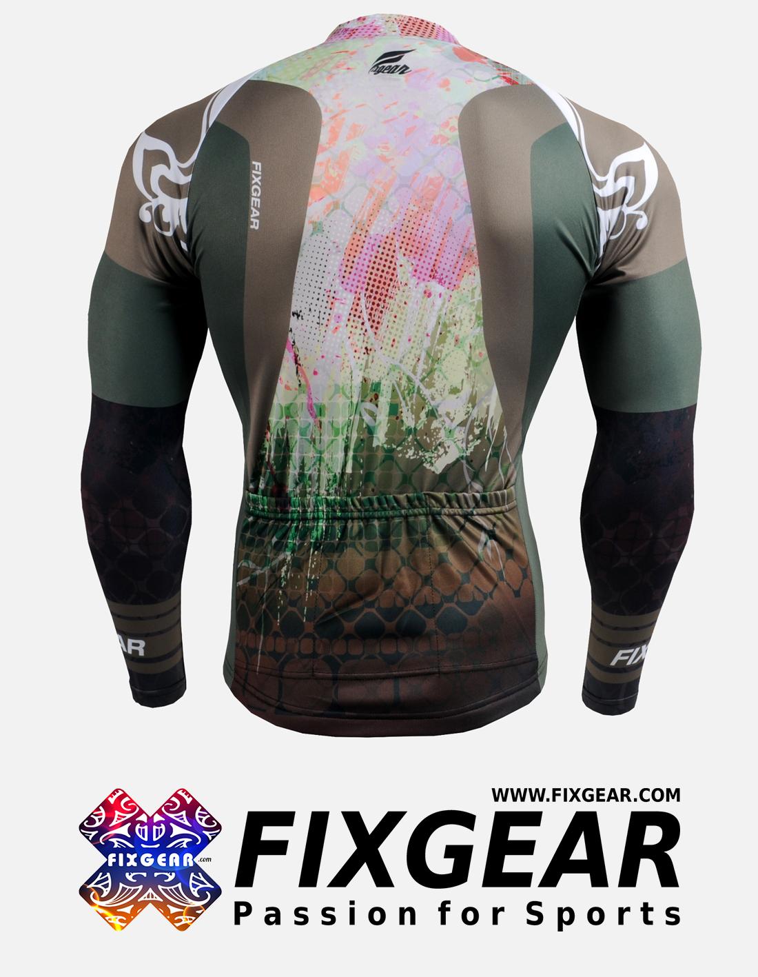 FIXGEAR CS-4201 Men's Cycling Jersey Long Sleeve