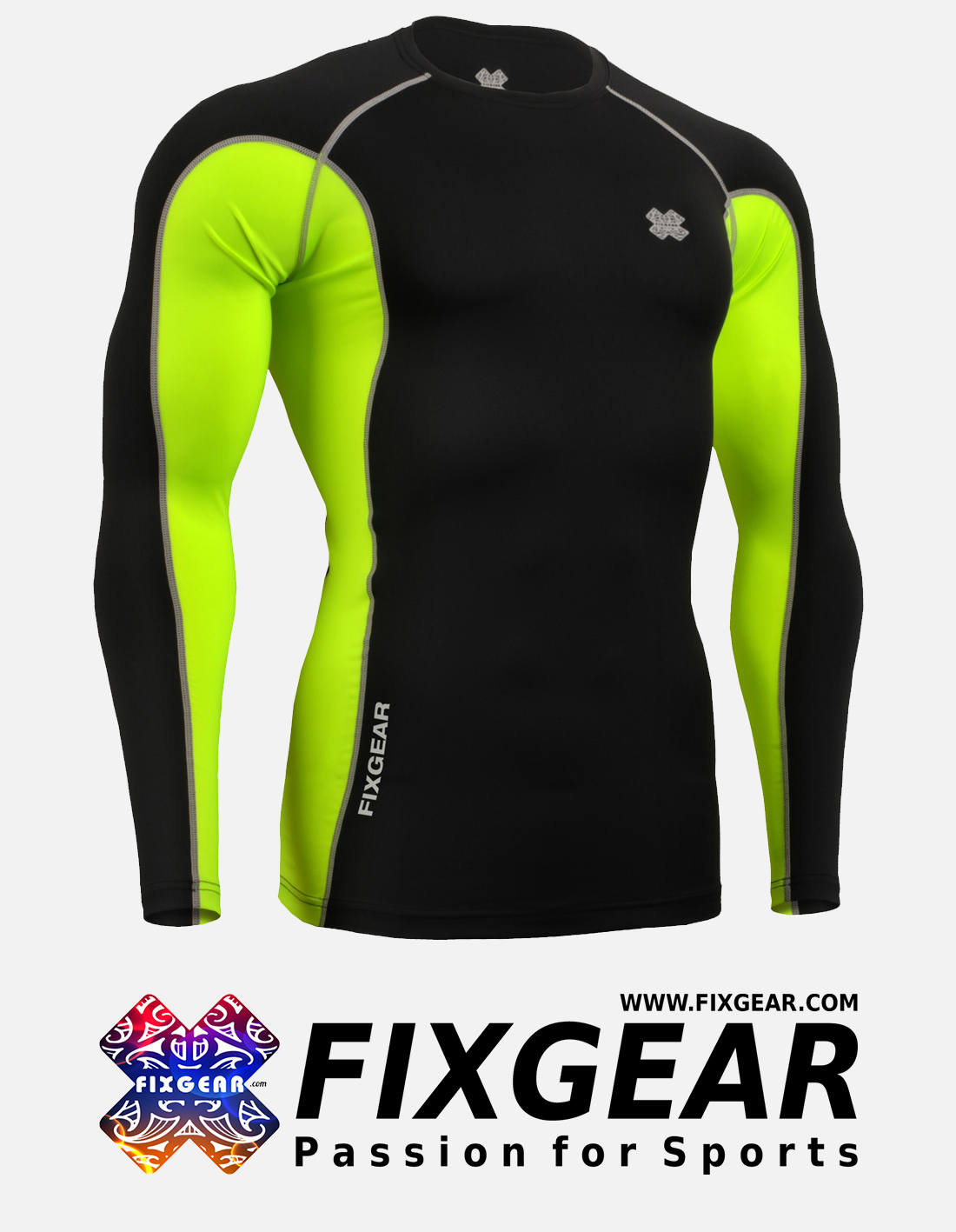 FIXGEAR FCT-BGL Skin-tight Compression Base Layer Shirt