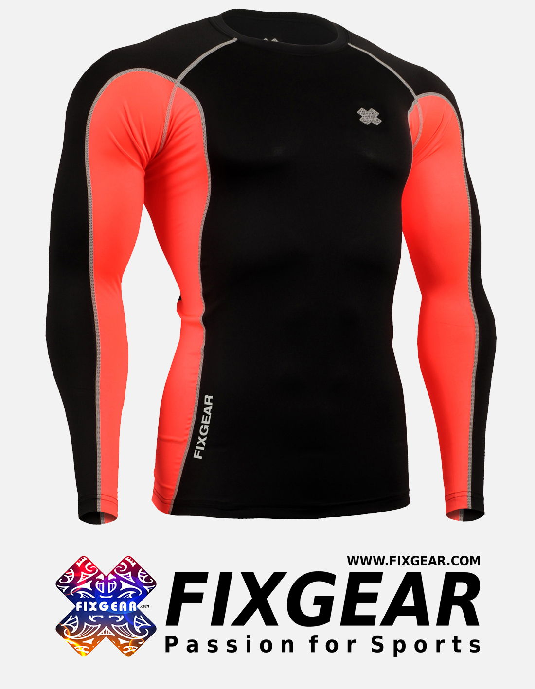FIXGEAR FCT-BPL Skin-tight Compression Base Layer Shirt