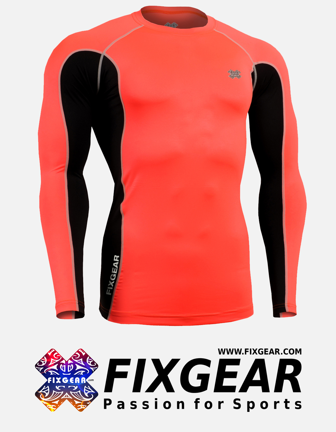 FIXGEAR FCTR-BPL Skin-tight Compression Base Layer Shirt