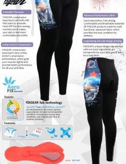 FIXGEAR LT-W10 Women's Cycling Padded Long Pants