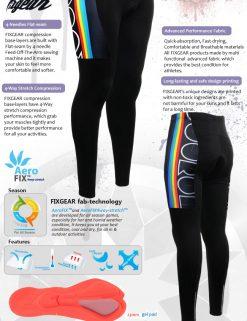 FIXGEAR LT-W2 Women's Cycling Padded Long Pants