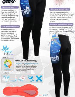 FIXGEAR LT-W23 Women's Cycling Padded Long Pants