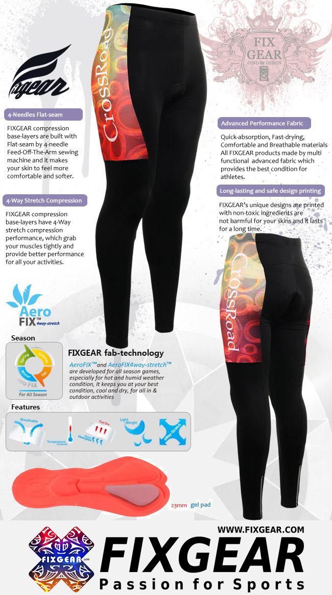 FIXGEAR LT-W4 Women's Cycling Padded Long Pants